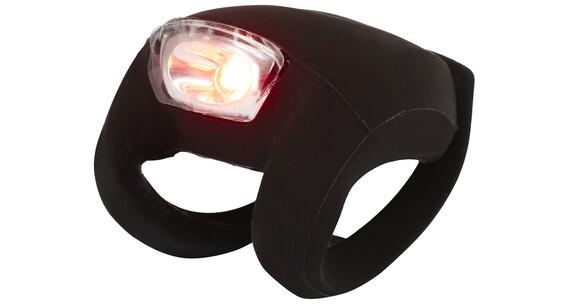 Knog Frog Strobe Cykellygter 1 røde LED, Standard sort